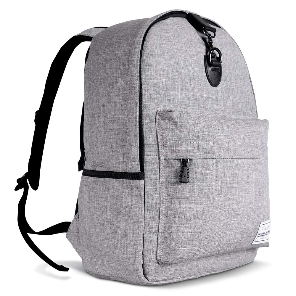XDesign Travel Laptop Backpack with Anti-theft Lock Up to 16″ Notebook – Grey