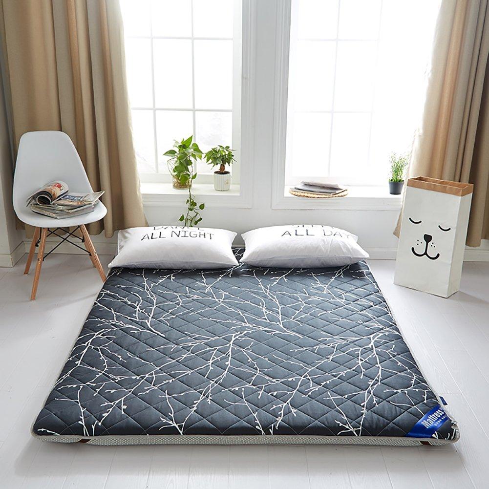 DULPLAY 寝室ベッド パッド 畳 式 スリップ マットレス パッド,綿 6 cm thickn ソフト マットレス トッパー,アンチ バクテリア プロテクター -A B07FG857DD
