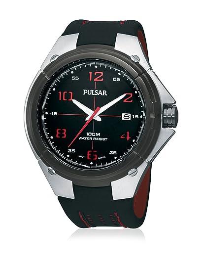 Pulsar PXH797X1 - Reloj con correa de caucho para hombre, color negro/gris