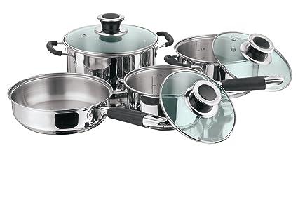 Amazon com: Vinod Cookware Vinod Masterchef Cookware Set Of 4 Pcs