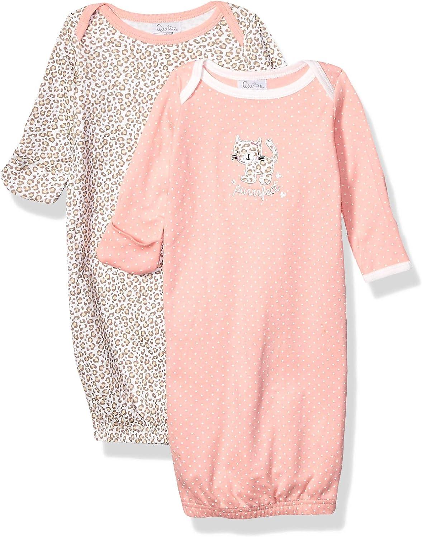 Quiltex Girls Toddler Purrrfect Sleeper Gowns 2 Pack Set QNG93654