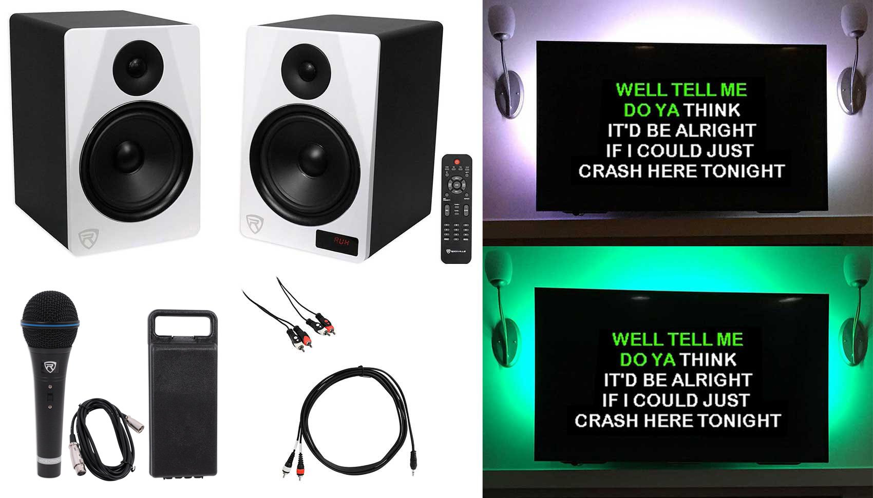 Rockville HTS8W Home Theater YouTube Karaoke Machine System w/Bluetooth+LED's