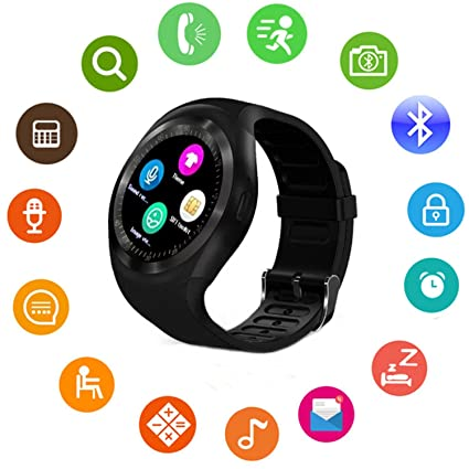 Amazon.com: Reloj inteligente Bluetooth con pantalla táctil ...