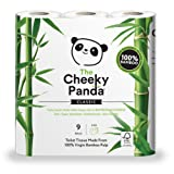 The Cheeky Panda 100 Percent Bamboo Toilet Paper Tissue Roll - Pack of 9