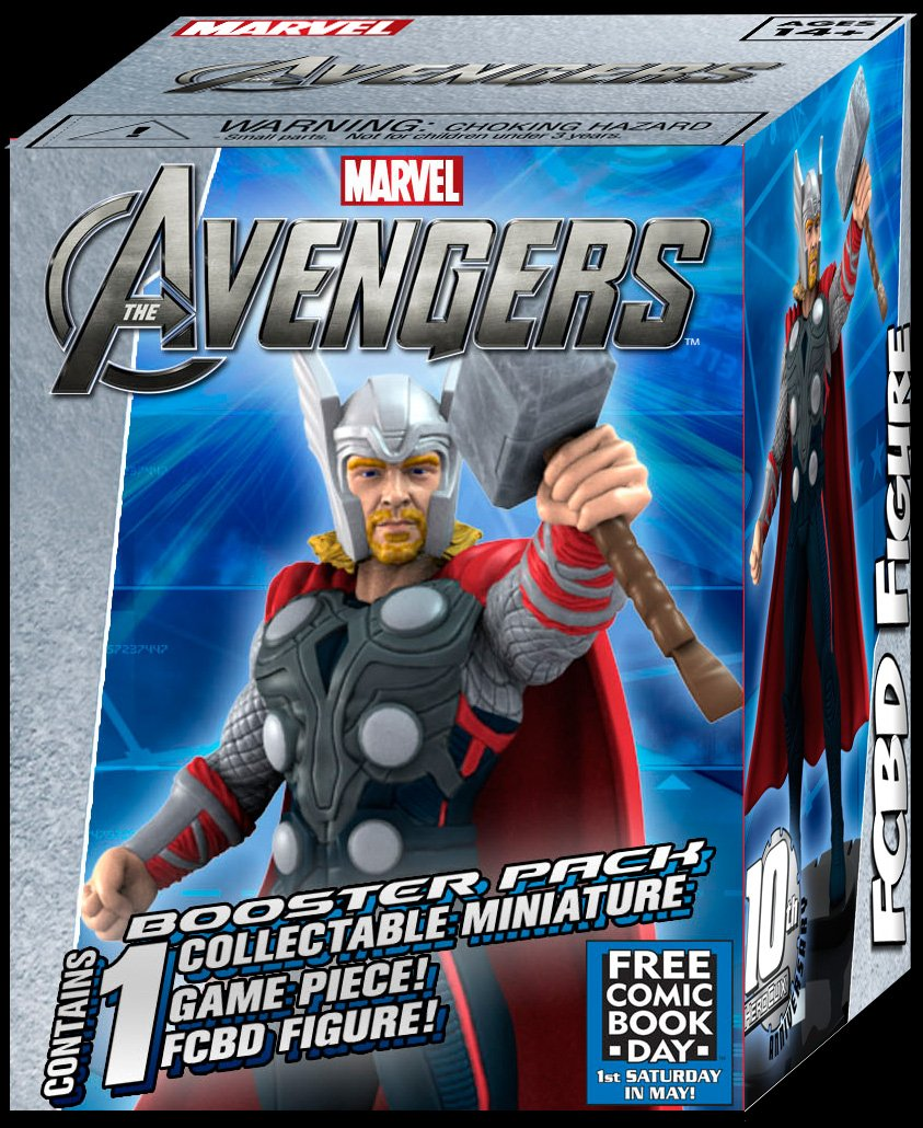 Free Comic Book Day THOR The Mighty Avenger Limited edition HeroClix Marvel Game Figure WizKids NECA Toys SG/_B0088D3SKU/_US