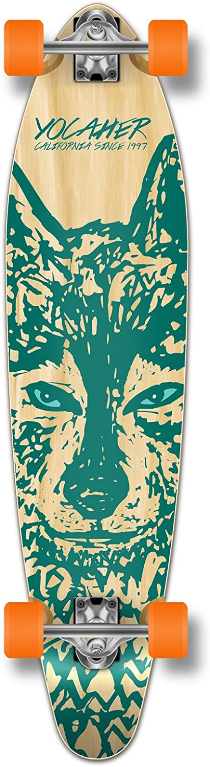 Yocaher Spirit Wolf Longboard Complete Skateboard Cruiser – Available in All Shapes