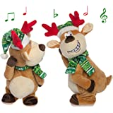 Simply Genius Dancing Singing Naughty Reindeer Animated Adult Musical Plush Toy Stuffed Animals Gag Gift