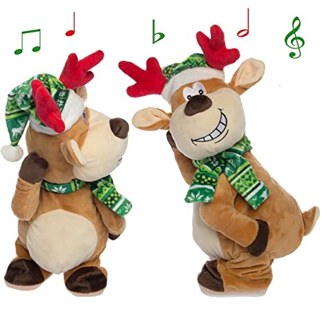 simply genius singing dancing twerking naughty reindeer ornament stuffed animal for adult animated christmas decorations - Animals Singing Christmas Songs