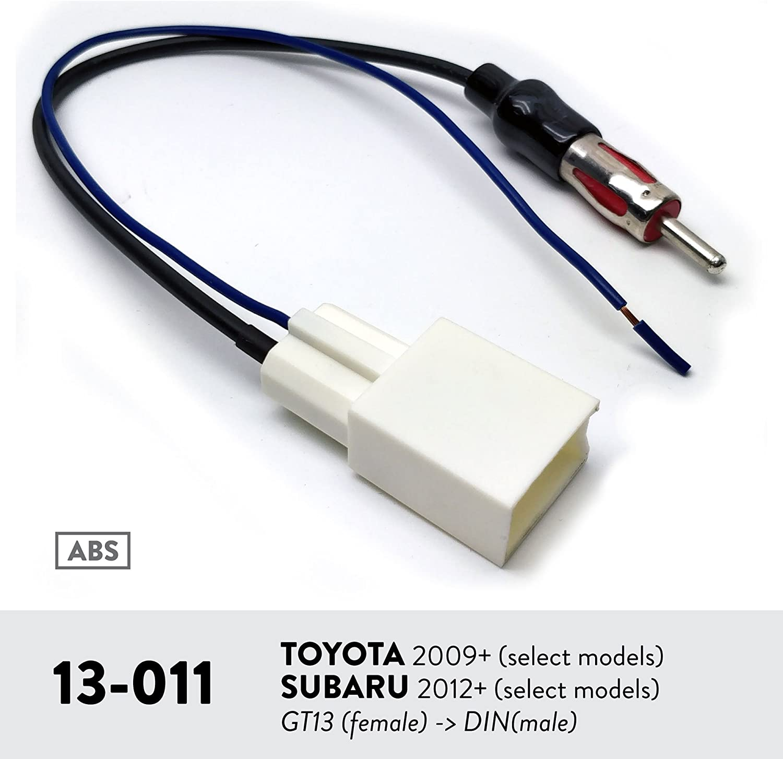 Select Models Gt13 - Din //Subaru 2012+ Select Models Male Connector Plug UGAR 13-011 Car Stereo Radio Antenna Adaptor for Toyota 2009+ Female