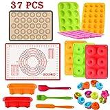 37PCS Silicone Baking Set Nonstick Bakeware
