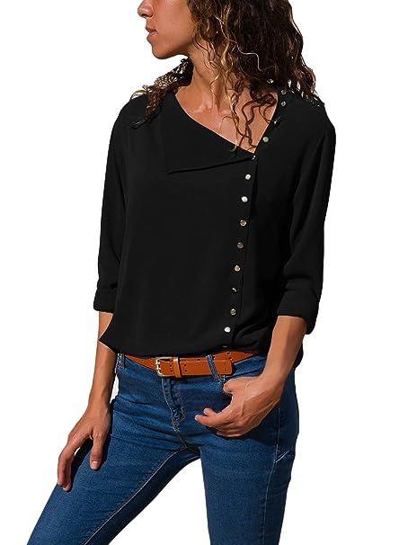 6c63480ff379 DOKOTOO Camisas - Button Down - para Mujer: Amazon.es: Ropa y accesorios