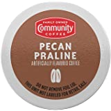 Community Coffee Pecan Praline Flavored 12 Count Coffee Pods, Medium Roast, Compatible with Keurig 2.0 K-Cup Brewers (Pack of