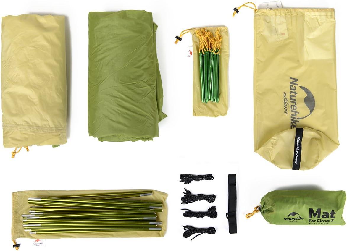 Naturehike Cirrus Backpacking tienda para 2 personas ultraligero viaje al aire libre camping