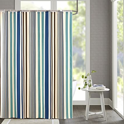 Ufavor Extra Long 72 X 78 Inch Modern Vertical Stripes Shower Curtain Waterproof And Moldproof Bathroom