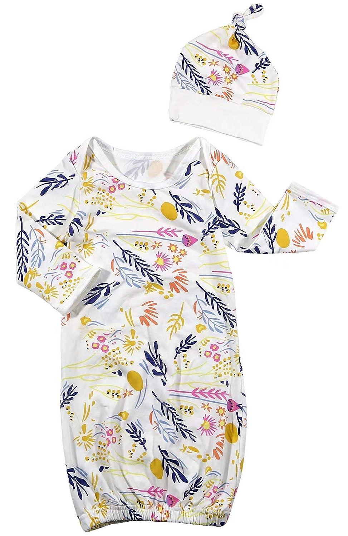 EGELEXY Newborn Infant Baby Boys Girls Sleepsack Cartoon Floral Print Nightgown Robe ZHI008-70