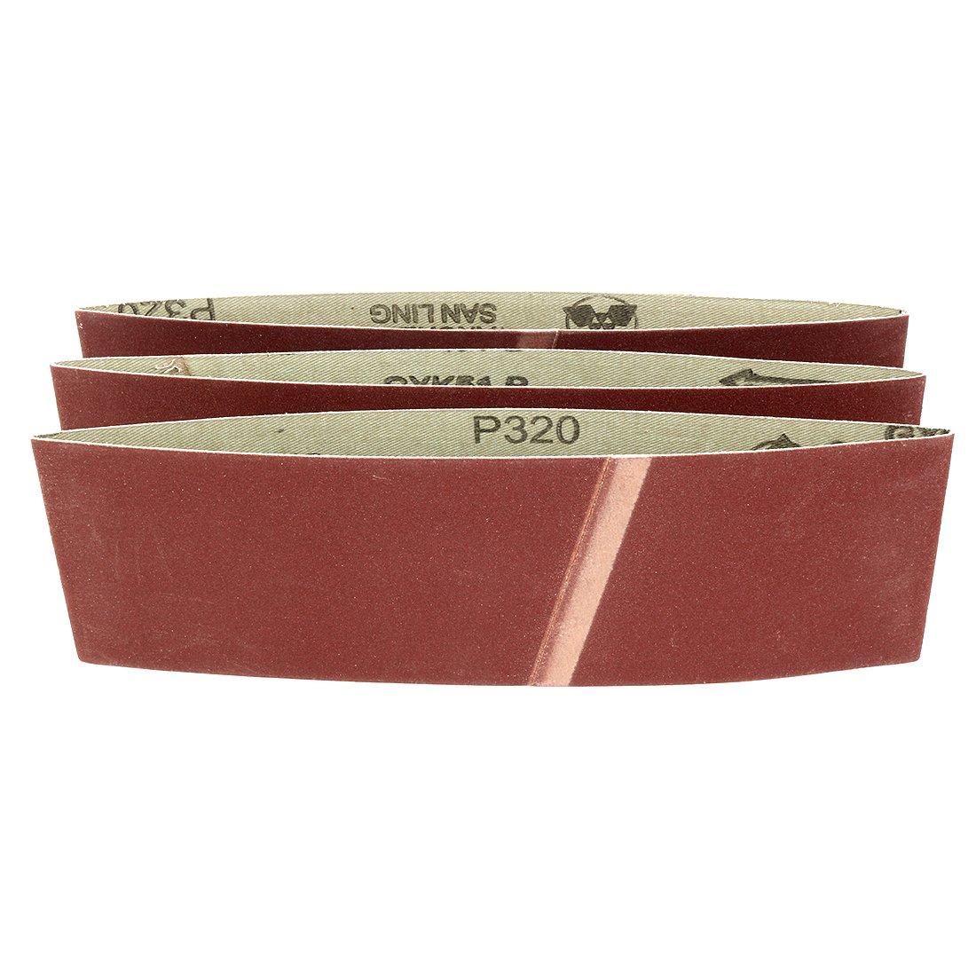 Sourcingmap 2-inch x 72-inch 120 Grit Lapped Butt Joint Aluminum Oxide Sanding Belt 2pcs