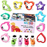 Kazoo Food Grade Stainless_Steel Sandwiches Cutter Cheese Vegetable Cutter Biscuit Mold Cookie Cutter for Kids Suitable…