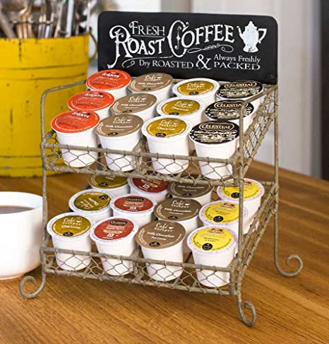 Amazon Vintage K Cup Coffee Pod Country Kitchen Stand Organizer