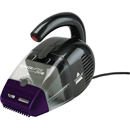 Bissell Powerlifter Pet Corded Hand Vacuum with Specialized Flexible Rubber Nozzle That Attracts Pet Hair and Multi-Layer Filtration System, 33A1W, Purple Black