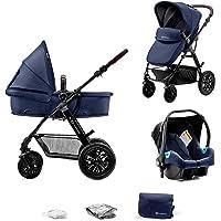 Kinderkraft Wielofunkcyjny Wózek Dziecięcy MOOV 3w1, Spacerówka, Travel system, Fotelik samochodowy i akcesoria w…