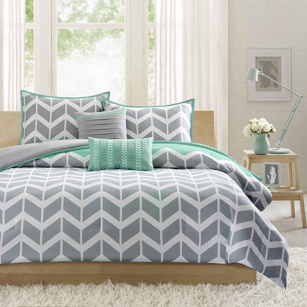 piece teal arvada k king comforter set