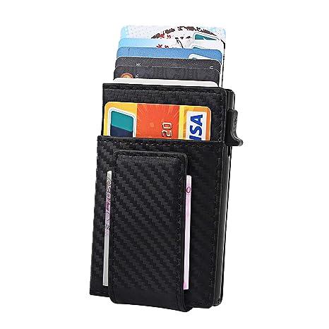 Porta carte di credito automatico a scomparsa con serratura RFID ... b34b19ed60a