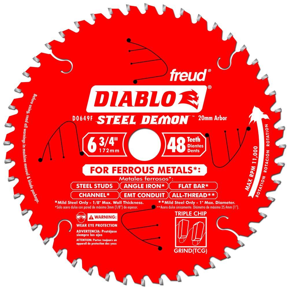 Disco Sierra Diablo por Freud D0649F Ø172 48D E20 Metales