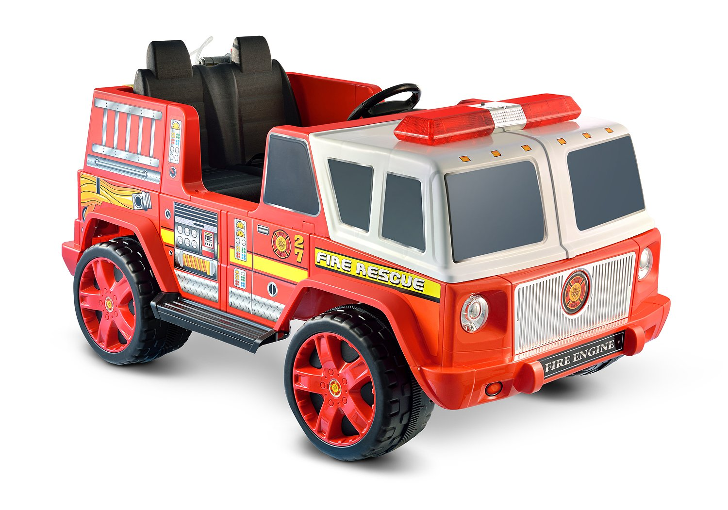 amazon com kid motorz fire engine 2 seater toys games