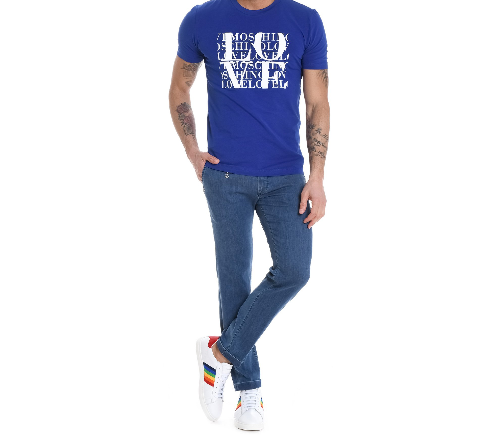 Love Moschino Men's M473171e1811y53 Blue Cotton T-Shirt by Love Moschino (Image #2)