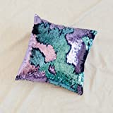 """Amazon Price History for:16""""x16"""" with INSERT Mermaid Sequin Pillow with Color Changing, Reversible Flip Sequins. Perfect Throw Pillow for Home Decor and Holiday Gifts- Aqua Purple"""
