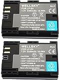 WELLSKY LP-E6 LP-E6N [ 2個セット ] CANON キヤノン 互換バッテリー [ 純正品と同じよう使用可能 純正充電器で充電可能 残量表示可能 ] イオス EOS 70D EOS 7D MarkII EOS 6D EOS 6D Mark II EOS 5D MarkII EOS 60D EOS 7D EOS 5D Mark III EOS 5D Mark IV EOS 60Da EOS 70D EOS 5Ds EOS 5Ds R EOS 80D EOS R XC15 EOS 90D BG-E6 BG-E7 BG-E9 BG-E11 BG-E13 BG-E14 BG-E16 BG-E20 BG-E21 BG-E22