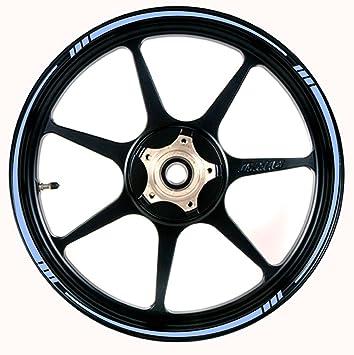 Vehicleartz Luz azul rueda Borde Cinta velocidad Tapered rayas ajuste todas las marcas de motocicletas, coches, camiones: Amazon.es: Coche y moto