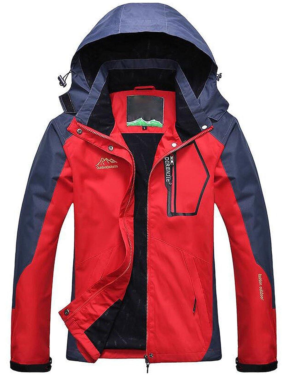 Lasher Womens Mountain Waterproof Ski Jacket Waterproof Rain Coat Fleece Windbreaker Outwear