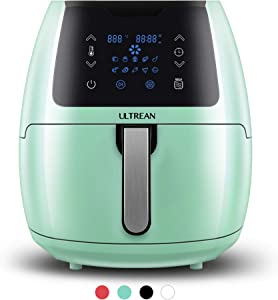 Ultrean 5.8 Quart Air Fryer, Electric Hot Air Fryers Oilless Cooker with 10 Presets, Digital LCD Touch Screen, Nonstick Basket, 1700W, UL Listed (Green)
