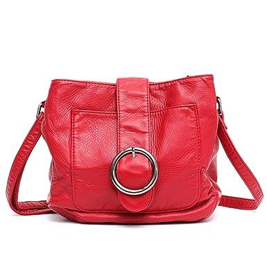 725111eeb67d Amazon.com: Chibi-store Brand Candy Color Women Messenger Bag Wash ...
