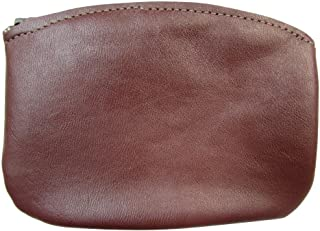 product image for North Star Men's Large Leather Zippered Coin Pouch Change Holder (5 X 3.5 X 0.25 Inches, Burgundy)