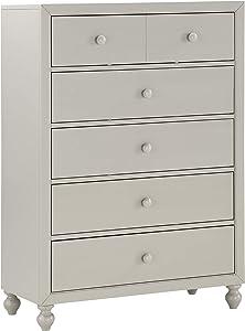 Homelegance 5-Drawer Chest, One-Size, Gray