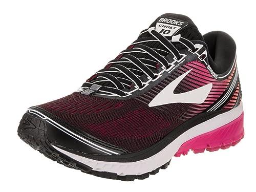 aa71369da2d Brooks Women s Ghost 10 (2A) Narrow Black Pink Peacock Living Coral Running  Shoe 9 S Women US  Amazon.in  Shoes   Handbags