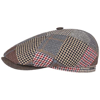 a6626f9f2e7 Stetson Tecopa Patchwork 6 Panel Flat Cap Ivy hat  Amazon.co.uk  Clothing