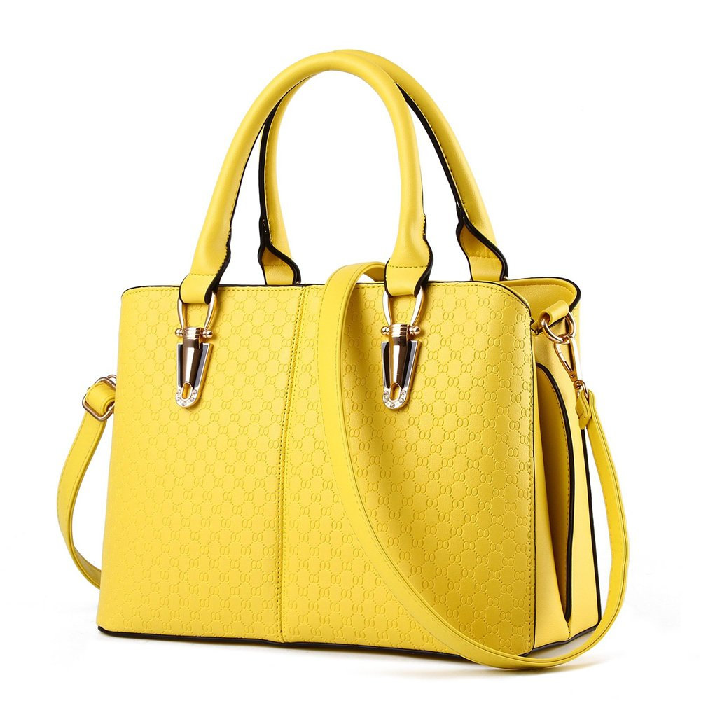 6e26ad8b19db LIZHIGU Womens Leather Shoulder Bag Ladies Top-Handle Handbag Simple ...