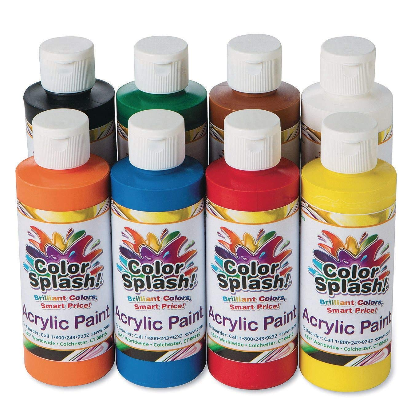 8-oz. Color Splash! Acrylic Paint Assortment (Set of 8)