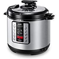 ICOOKPOT 6 Qt Electric Pressure Cooker 9-in-1 Multi- Use Programmable Pressure Cooker, Slow Cooker, Saute, Yogurt Maker, Rice Cooker, Steamer, Soup and Warmer, with Stainless Steel Inner Pot, Steam Rack and Free Recipes