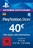 PlayStation Store Guthaben-Aufstockung | 40 EUR | PS4, PS3, PS Vita PSN Download Code - deutsches Konto