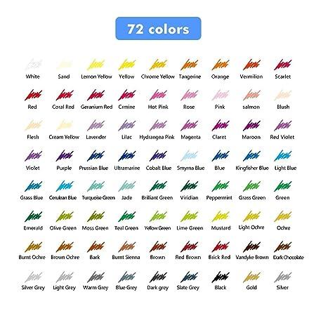 Rixow 72 Farben Ölige Buntstifte Farbstifte Colour Pencils Für Kinder  Malerei: Amazon.de: Bürobedarf U0026 Schreibwaren