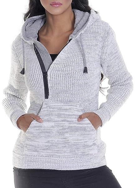 damen pullover amazon com leif nelson women s knit jacket basic casual jacket  leif nelson women s knit jacket