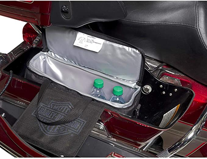 Kuryakyn 5202 Insulated Motorcycle Saddlebag Cooler Bag with Bottle Opener Pack of 1 Holds 18 Cans or 12 Bottles Black
