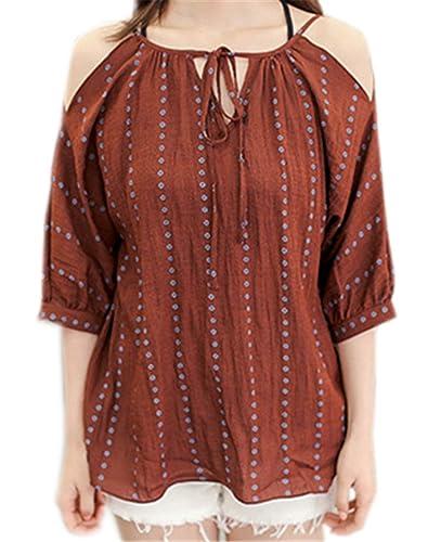 COCO clothing - Camisas - Wickelbluse - Rayas - para mujer