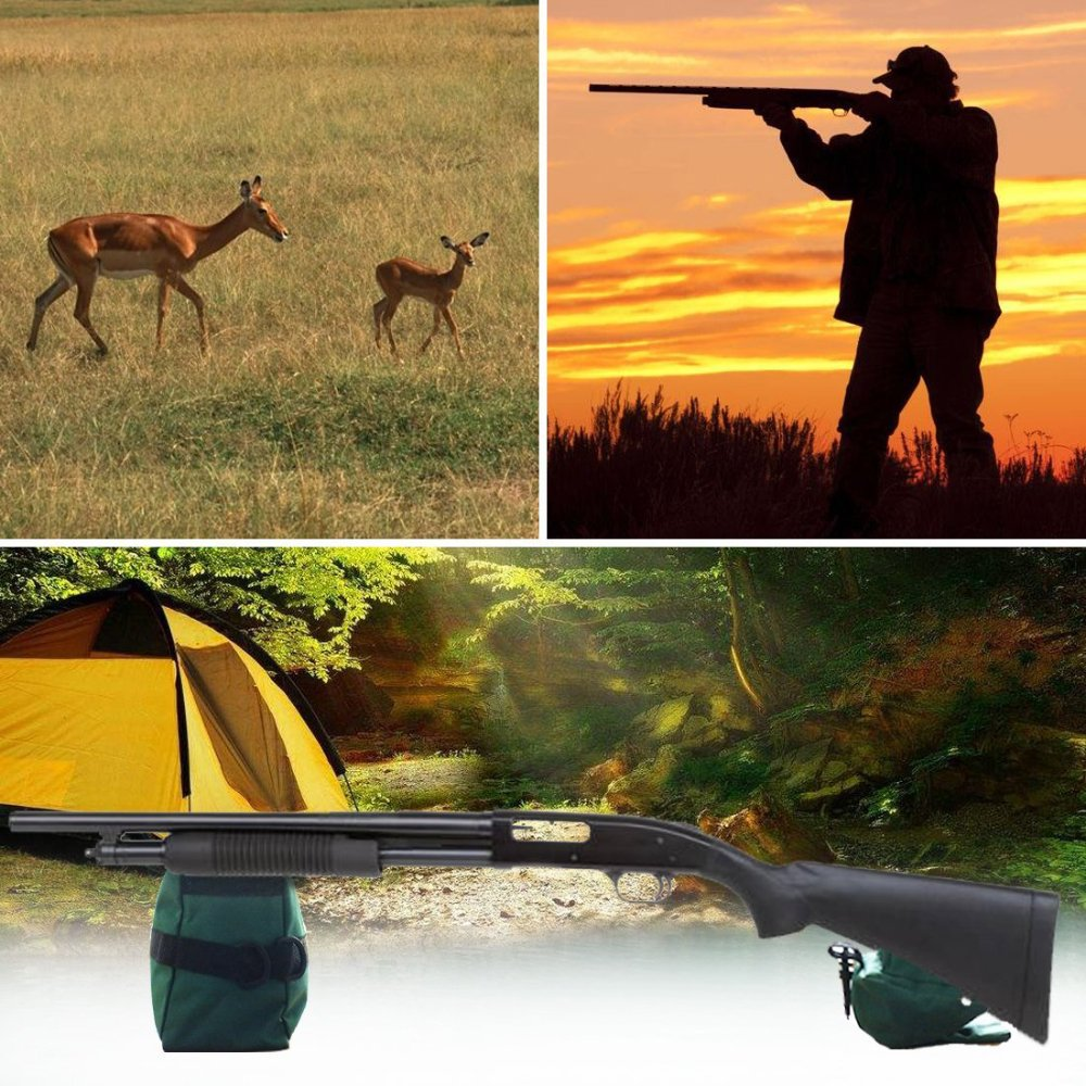 TEKCAM Shooting Rest Bag Set Outdoor Rifle Target Sports Bench Steady Unfilled Front & Rear Bags for Shooting Hunting by TEKCAM (Image #7)