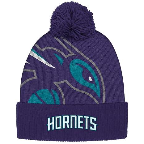 3c9595869b9 Amazon.com   Charlotte Hornets adidas New Identity Cuffed Pom Knit ...