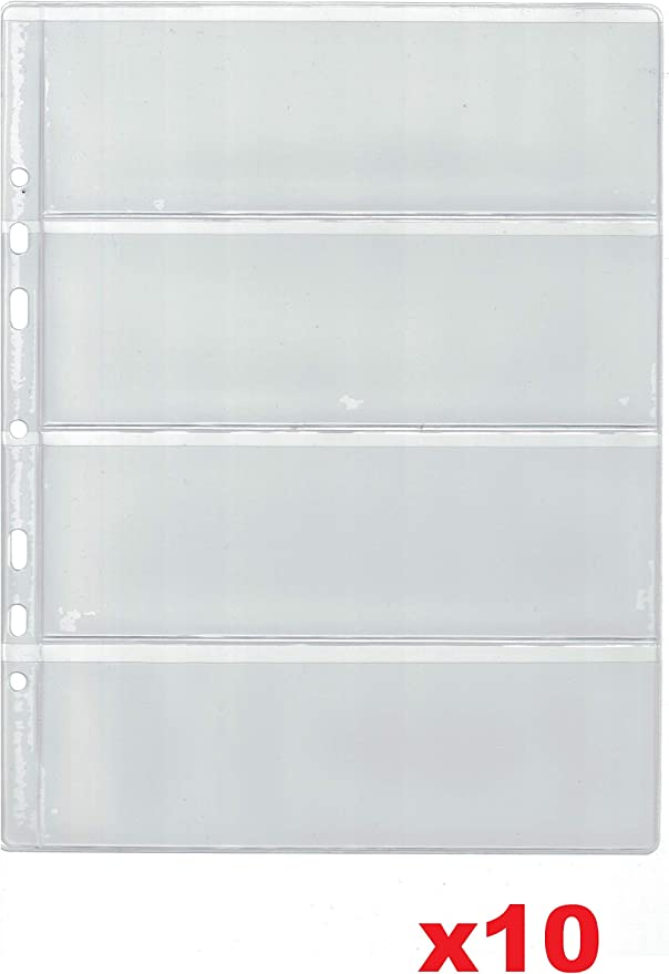 COLLECTOR 10 páginas para álbum de Billetes – Tipo 4 – para Billetes Carpeta Extra Recambio Hojas Insertos: Amazon.es: Hogar